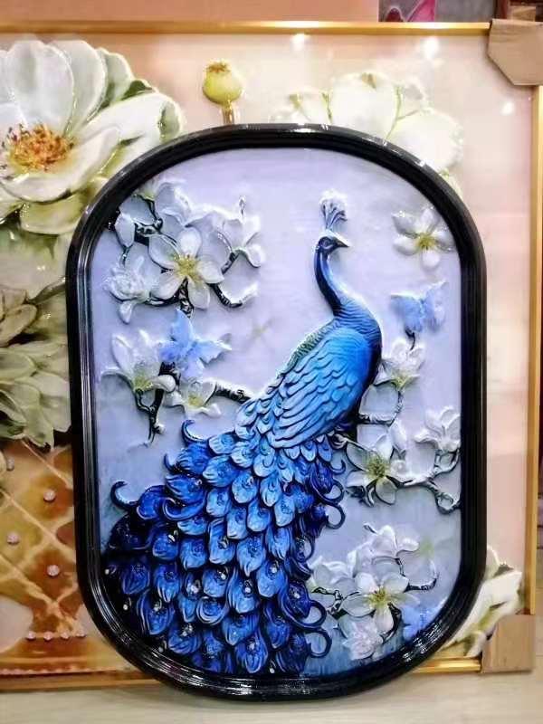 异型浮雕晶瓷画工艺